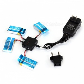 X4-007 1-to-4 Balanced Charger w/ 4 x Li-po Batteries Set for Syma X5C / X5