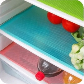 Hoomall 4PCs/Set Waterproof Antibacterial Antifouling Mildew Moisture Tailorable Refrigerator Pads, Fridge Mats  Green
