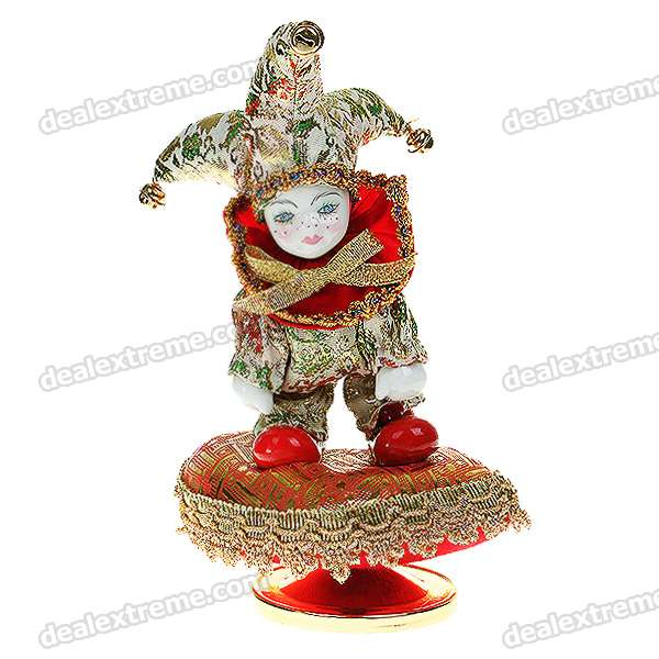 Triangel Figure Musical Music Box - White + Green + Red + Gold