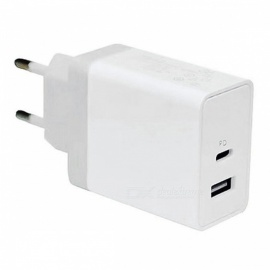 cwxuan 30W USB type-c PD cargador de pared rápido con puerto USB 5V para macbook pro, IPHONE X 8plus, Samsung Xiaomi y más (enchufe de la UE)