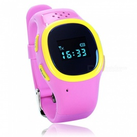520 Kids Smart Wrist Watch w/ SOS, Call Alarm, GPS Tracker for Girl Boy Student Child - Pink