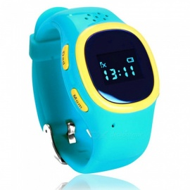520 Kids Smart Wrist Watch w/ SOS, Call Alarm, GPS Tracker for Girl Boy Student Child - Blue