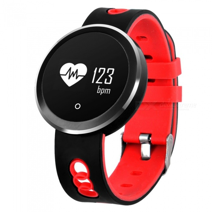 Q7 IP68 Waterproof Bluetooth V4.0 Smart Watch Fitness Bracelet with Heart Rate / Sleep  Monitoring - RedSmart Bracelets<br>Form  ColorBlack + RedForm  ColorBlack + RedQuantity1 DX.PCM.Model.AttributeModel.UnitMaterialABSShade Of ColorRedWater-proofIP68Bluetooth VersionBluetooth V4.0Touch Screen TypeYesCompatible OSiOS8.0 and above, Android 4.4 and aboveBattery Capacity110 DX.PCM.Model.AttributeModel.UnitBattery TypeLi-polymer batteryStandby Time5-7 DX.PCM.Model.AttributeModel.UnitPacking List1 x Smart Bracelet1 x USB Charging Cable1 x User Manual<br>