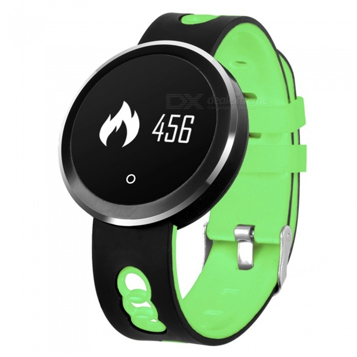 Q7 IP68 Waterproof Bluetooth V4.0 Smart Watch Fitness Bracelet with Heart Rate / Sleep Monitoring - GreenSmart Bracelets<br>Form  ColorBlack+ GreenForm  ColorBlack+ GreenQuantity1 DX.PCM.Model.AttributeModel.UnitMaterialABSShade Of ColorGreenWater-proofIP68Bluetooth VersionBluetooth V4.0Touch Screen TypeYesCompatible OSiOS8.0 and above, Android 4.4 and aboveBattery Capacity110 DX.PCM.Model.AttributeModel.UnitBattery TypeLi-polymer batteryStandby Time5-7 DX.PCM.Model.AttributeModel.UnitPacking List1 x Smart Bracelet1 x USB Charging Cable1 x User Manual<br>