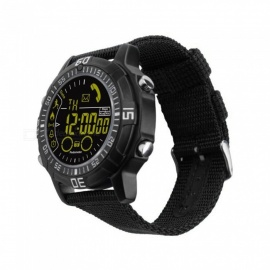 EX28A Sports IP67 Waterproof Smart Watch with Pedometer - Black