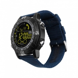 EX28A Sports IP67 Waterproof Smart Watch with Pedometer - Blue + Black