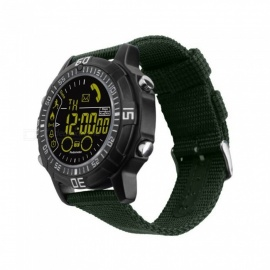 EX28A Sports IP67 Waterproof Smart Watch with Pedometer - Green + Black
