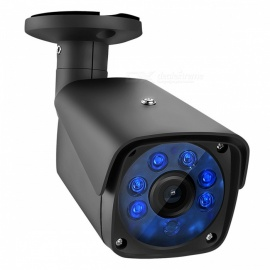 "COTIER 1080P 2.0MP Bullet Security CCTV Camera with 1/2.7"" CMOS 3.6mm Lens for DVR Surveillance System - Black (EUPlug)"