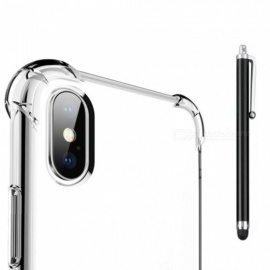 SZKINSTON Shockproof TPU Case with Stylus Pen for IPHONE X - Transparent