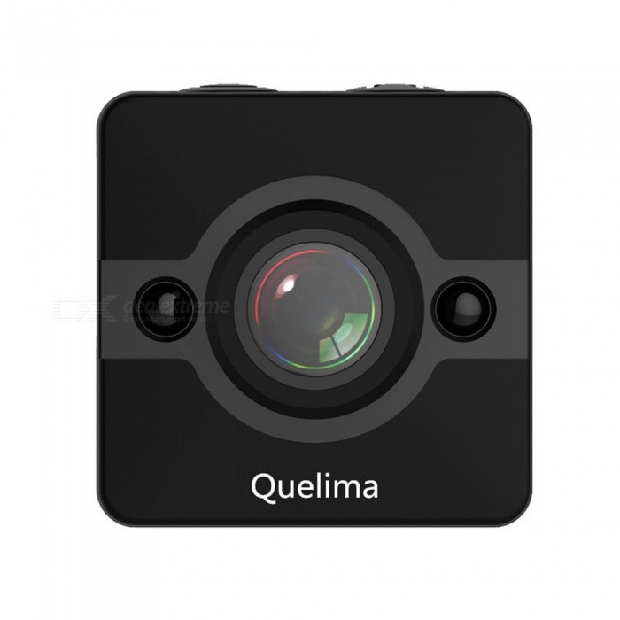 Quelima SQ12 Mini 1080P Sports DV Recorder Camera DVR - BlackCar DVRs<br>Form  ColorBlackForm  ColorBlackModelSQ12Quantity1 DX.PCM.Model.AttributeModel.UnitMaterialABSChipsetOthers,GeneralplusOther FeaturesOthers,1920 x 1080P FHD resolution, clear image recording  2 IR LEDs increase night vision effect, which supports capturing high definition pictures during night or dark environment  Advanced H.264 photography compression technology keeps high-quality videos and plays a part of saving storage as well  Time stamp is conducive to look through  Support maximum 32GB TF card memory storage ( not included )  2 - 3m motion detectionWide Angle150°-169°Camera Lens1Image SensorCMOSCamera PixelOthers,1.2MPExternal Camera PixelNoWide AngleOthers,155 DegreeScreen TypeOthers,NOScreen SizeOthers,NOISO100Video FormatAVIDecode FormatH.264Video ResolutionOthers,1080P1920 x 1080720P1280 x 720Video Frame Rate30ImagesJPEGStill Image ResolutionOthers,12M4032 x 3024Audio SystemOthers,speacker (AAC)MicrophoneYesMotion DetectionYesIR Night VisionYesG-sensorNoLoop RecordOthers,5Delay ShutdownYesBuilt-in Memory / RAMNoMax. Capacity32GBStorage ExpansionTFAV InterfaceOthers,Mini 8 pin USBData interfaceMini USBWorking Voltage   12-24 DX.PCM.Model.AttributeModel.UnitBattery Capacity200 DX.PCM.Model.AttributeModel.UnitWorking Time60 DX.PCM.Model.AttributeModel.UnitMenu LanguageOthersOther Features155 degrees FOV angle, provides optimal and safer view sight and benefits reversing car. Distinctive functions of motion detection and loop-cycle recording will bring you a more comfortable, safe and worry-free driving environment. Whats more, its mini body and compact size, added 200mAh capacity, which can continuously record 60mins, also widely used for outdoor activities. You deserve owning it!Packing List1 x SQ12 Car DVR1 x USB Cable1 x Holder1 x Clip1 x English Instruction<br>