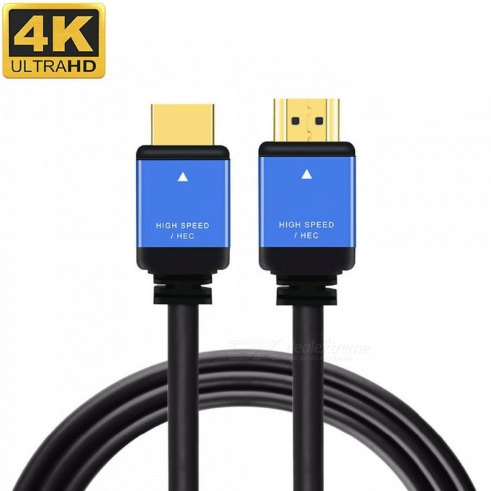 Cwxuan HDMI Male to HDMI Male 2.0 4K 3D Cable for HD TV LCD Laptop PS3 Projector Computer - Black (3m)Audio And Video Cables<br>Form  ColorBlackLength3mMaterialAluminum alloy + PVCQuantity1 setConnector GenderMale to MaleConnectorHDMIPacking List1 x 4K HDMI Cable (300cm)<br>