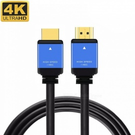 Cwxuan HDMI Male to HDMI Male 2.0 4K 3D Cable for HD TV LCD Laptop PS3 Projector Computer - Black (0.5m)