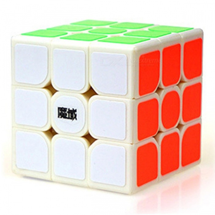 MoYu DianMa 57mm 3x3x3 Smooth Speed Magic Cube Puzzle Toy - WhiteMagic IQ Cubes<br>Form  ColorWhite (57mm)ModelN/AMaterialABSQuantity1 DX.PCM.Model.AttributeModel.UnitType3x3x3Suitable Age 3-4 years,5-7 years,8-11 years,12-15 years,Grown upsPacking List1 x Magic Cube1 x English + Chinese Manual<br>