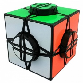 moyu wheel of time nero 76mm liscio speed magic cube finger puzzle giocattolo - nero