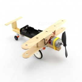 DIY Science Puzzle Wind Power Skid Glide Aircraft Model Toy for Kids