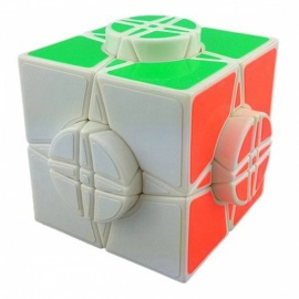 moyu wheel of time negro 76mm velocidad lisa magic cube finger puzzle juguete - blanco