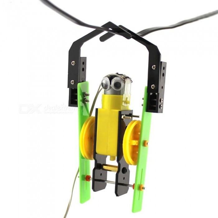 DIY Handmade Wire-controlled Small Reptile Assembly Robot Reptile Model Educational Toy - BlackEducational Toys<br>Form  ColorBlack + Yellow + Multi-ColoredForm  ColorBlackMaterialPlasticQuantity1 DX.PCM.Model.AttributeModel.UnitSuitable Age 5-7 years,8-11 years,12-15 years,Grown upsPacking List1 x Wire-controlled small reptile material package<br>