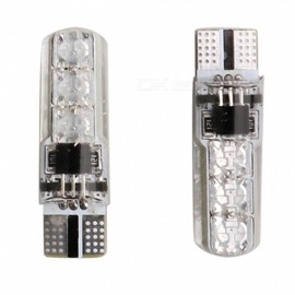 T10-6SMD RGB Silicone Remote Control Car Wide Flashing Light, Atmosphere Lamp (2 PCS)