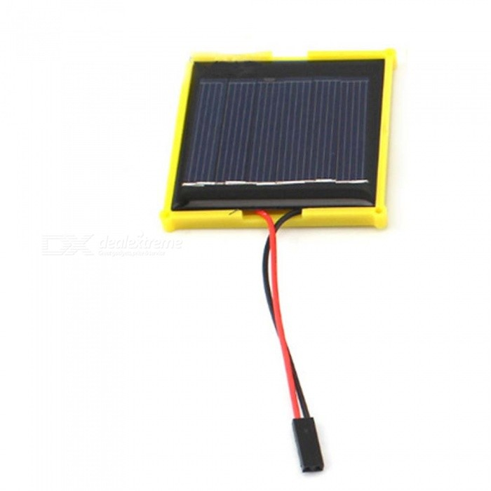3V 100MA Solar Panel (DuPont Line), No Need Soldering - BlackSolar Powered Toys<br>Form  ColorBlack (DuPont Line)MaterialPlasticQuantity1 DX.PCM.Model.AttributeModel.UnitNumber0Size0Suitable Age 8-11 years,12-15 years,Grown upsAssemblingNoMotorNoPacking List1 x Solar panel<br>