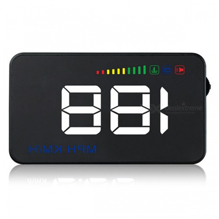 A500 Car HUD 3.5 Inches Head Up Display Projector Universal Car OBD2Others<br>Form  ColorBlackModel1Quantity1 DX.PCM.Model.AttributeModel.UnitMaterialABSPacking List1 x Head Up Display1 x Manual In English1 x OBD Cable1 x Anti-skid Mat1 x Reflective Film<br>