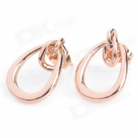 KCCHSTAR BK-625 Oval Shaped Zinc Alloy Earrings