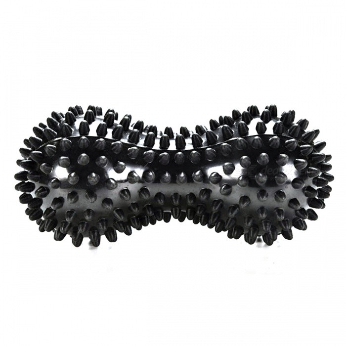 Novetly Peanut Shaped Spiky Massage Ball PVC Trigger Therapy Stress Relief Massager Fitness Tool - BlackRelax and Massagers<br>Form  ColorBlackMaterialPVCQuantity1 DX.PCM.Model.AttributeModel.UnitShade Of ColorBlackMassager PartFoot hand Buttocks waistPrinciple of MassageRelax blood pressure and relaxMassage ManipulationRolling pressControl ModeManual rolling extrusionNumber of Massage Heads1 DX.PCM.Model.AttributeModel.UnitThermotherapy FunctionNoTiming FunctionNoBattery included or notNoPower SupplyOthers,NOPower AdapterOthers,NOPower0 DX.PCM.Model.AttributeModel.UnitPacking List1 x Massage Ball<br>