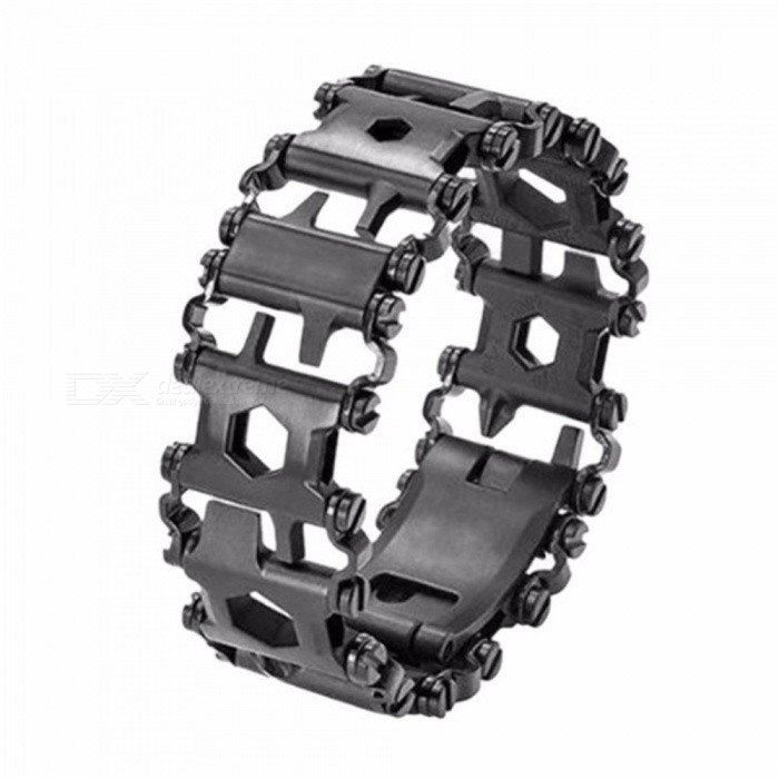 Wearable Multi-Tool Stainless Steel Wristband - Black