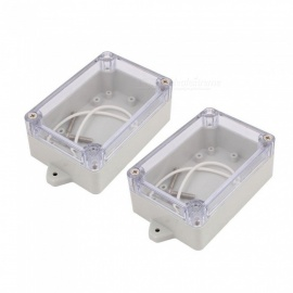 YENISEI 100x68x40mm Transparent Cover Dustproof IP65 Junction Terminal Box Enclosure (2 PCS)