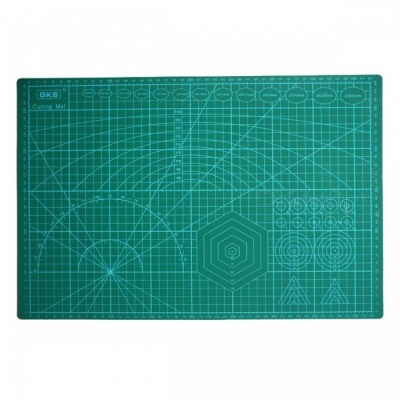 ZHAOYAO A3 45 x 30 x 0.3cm PVC Rectangle Grid Lines Self Healing Cutting Mat, Fabric Leather Paper Craft DIY Tool