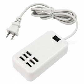bärbar 30 W 6-port USB smart laddningsplatta - USA-kontakt (AC100-240V)