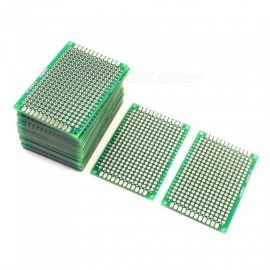 YENISEI 4 x 6cm FR-4 2-Sided Prototype Tinned Universal PCB Circuit Board for DIY - Green (25 PCS)