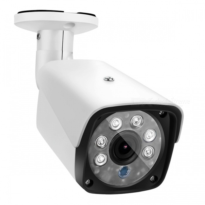 COTIER 1500TVL 1.0MP Bullet Security CCTV Camera with 1/3 CMOS 3.6mm Lens for DVR Surveillance System - EU PlugCCTV Cameras<br>Form  ColorWhiteForm  ColorWhite (EU Plug)ModelTV-633W/AMaterialAluminum alloyQuantity1 DX.PCM.Model.AttributeModel.UnitImage SensorCMOSImage Sensor SizeOthers,1/3 inchesPixels1.0MP 720PPicture Resolution1280?720Lens3.6mmViewing Angle90 DX.PCM.Model.AttributeModel.UnitVideoAVIDaytime30mElectronic Shutter Speed1/50s~1/100,000sMinimum Illumination0.1Lux@F1.2(AGC ON), 0.01Lux IR onImaging ColorColor,Black and whiteInterfacesCVBSNight VisionYesIR-LED Quantity6Night Vision Distance30 DX.PCM.Model.AttributeModel.UnitVideo SystemPALSNR50dBWater-proofYesBracket YesPower AdaptorYesPower AdapterEU PlugRate Voltage12VRated Current1 DX.PCM.Model.AttributeModel.UnitFunctionIR,Day / night switch,Wide dynamic range (WDR)CertificationCE ROSHPacking List1 x Camera1 x EU Plug Power Adapter1 x Screw package1 x Manual<br>