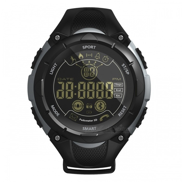 X7 Sports Bluetooth Intelligent Watch Camera Remote Control Calls Message Reminder for Men and Women - BlackSmart Bracelets<br>ColorBlackModelX7Quantity1 DX.PCM.Model.AttributeModel.UnitMaterialPlasticWater-proofIP68Bluetooth VersionBluetooth V4.0Touch Screen TypeOthers,FSINOperating SystemAndroid 4.4,iOSCompatible OSAndroid IOSBattery Capacity600 DX.PCM.Model.AttributeModel.UnitBattery TypeOthers,CR2450 button batteryStandby Time20 DX.PCM.Model.AttributeModel.UnitPacking List1 x Smart Watch1 x User Manual<br>