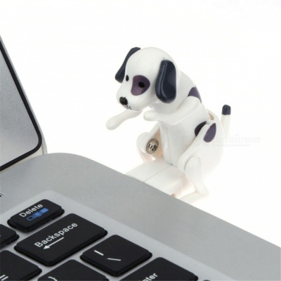 Maikou USB 2.0 Funny Humping Spot Rascal Dog, Pressure Relief Toy for Office Worker Best Gift - White