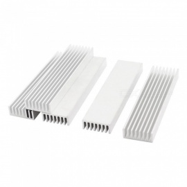 RXDZ 100x25x10mm Aluminium Radiator Heatsink Heat Sink (6 PCS)