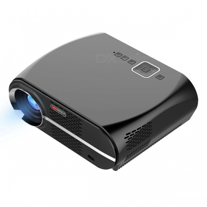 VIVIBRIGHT GP100 1280x800P HD Projector for Home Theatre - Black (EU Plug)Projectors<br>ColorBlackBrandVivibrightModelGP100Quantity1 DX.PCM.Model.AttributeModel.UnitMaterialABS+PCShade Of ColorBlackOperating SystemNoTypeLCDChipsetMStarBrightness3000~3999 lumensBrightness3500 DX.PCM.Model.AttributeModel.UnitMenu LanguageEnglish,German,Italian,Spanish,Portuguese,Russian,Polish,Greek,Danish,Norwegian,Dutch,Slovak,Czech,Swedish,Finnish,Chinese Simplified,Bulgarian,SerbianBuilt-in SpeakersYesLife Span30000 DX.PCM.Model.AttributeModel.UnitEmitter BINLEDDisplay Size35-180inchesAspect RatioOthers,16:9/4:3Contrast Ratio3000:1Pixels1280*800*3PixelNative Resolution1280*800Maximum Resolution1080PMaximum Resolution1920*1080Throw Distance1.2-5.5MBuilt-in Memory / RAMNoStorageNoAudio FormatsMP3,WMA,AC3,AACVideo FormatsRMVB,AVI,MKV,MOV,MP4,VOB,MPEG1,MPEG2Picture FormatsJPEG,BMP,PNG,GIFInput ConnectorsAV,VGA,USB,HDMIInput Connectors2 x HDMI Port, 1 x VGA/PC-RGB, 1 x AV/Video, 2 x USB A(Ready)Output ConnectorsAudio OutPower Consumption80W &amp; OverPower Consumption170WPower Supply90-240VPower AdapterEU PlugCertificationCE/FCC/ROHSPacking List1 x Projector1 x Remote controller (battery is not included) 1 x VGA cable1 x 3 in 1 AV cable1 x User manual1 x Power cable<br>