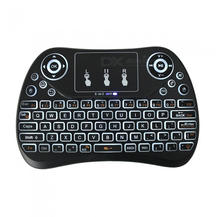 333a6527d8b T2 Mini Fly Air Mouse Remote Control Wireless Keyboard w/ Flat Touchpad,  Backlight for Mini PC Mac Linux - Free shipping - DealExtreme