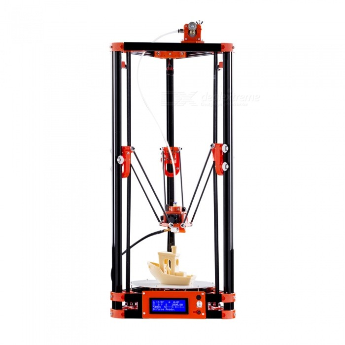 FLSUN 3D Printer Delta Kossel DIY Kit with Large 3D Printing Size Updated Nuzzle System Heated Bed Auto Leveling - EU Plug