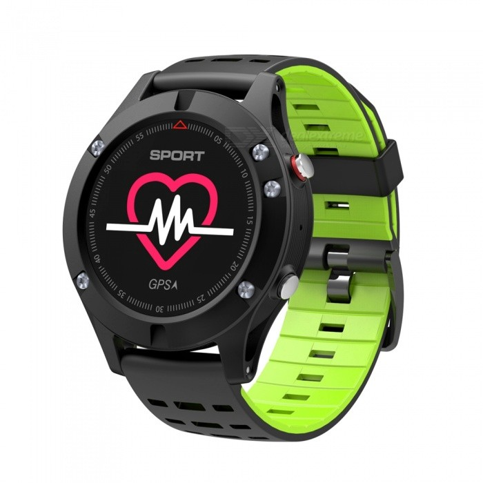 F5 0.95 Color Screen Bluetooth Smart Watch with Heart Rate Monitor, GPS, Multiple Sport Modes, Fitness Tracker - GreenSmart Watches<br>ColorGreenModelF5Quantity1 DX.PCM.Model.AttributeModel.UnitMaterialABSCPU ProcessorNRF52832QScreen Size0.95 DX.PCM.Model.AttributeModel.UnitScreen Resolution96*64Touch Screen TypeYesBluetooth VersionBluetooth V4.2Compatible OSsupport IOS/Android systemLanguageRussian, German, Italian, Czech, Japanese, French, Polish, Thai, Chinese, Traditional Chinese, English, Portuguese, SpanishWristband Length22 DX.PCM.Model.AttributeModel.UnitWater-proofIP67Battery ModeNon-removableBattery TypeLi-polymer batteryBattery Capacity350 DX.PCM.Model.AttributeModel.UnitStandby Time5-7 DX.PCM.Model.AttributeModel.UnitPacking List1 x Smartwatch1 x English-Chinese Manual1 x Charger cable<br>