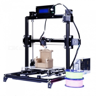 Flsun 3D Auto Leveling i3 3D Printer Kit w/ Heated Bed Two Rolls Filament SD (US Plug)