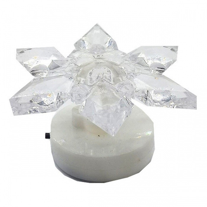 Small Creative Flower Shape Color-Changing Night Light for Festival Holiday DecorationChristmas Gadgets<br>ColorWhiteMaterialPlasticQuantity1 pieceTotal Emitters1Emitter BINLEDColor BINRedPacking List1 x Night Light<br>