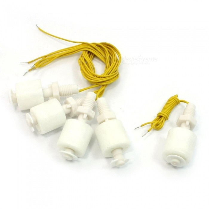 Generic Liquid Water Level Sensor Vertical Float Switches - Yellow (5 PCS)Switches &amp; Adapters<br>ColorYellowQuantity5 DX.PCM.Model.AttributeModel.UnitMaterialPPPower Range110V DCMax. Current1.5Working Temperature-10 / +85 DX.PCM.Model.AttributeModel.UnitCertificationNOPacking List5 x Water level sensor switches<br>
