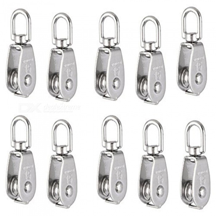 m15 lifting crane swivel hook single pulley block  hanging wire towing wheel  10 pcs