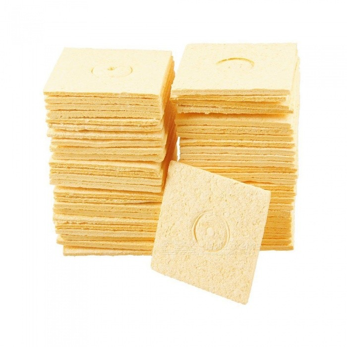 57mm x 57mm Soldering Iron Cleaning Sponge (50 PCS)DIY Parts &amp; Components<br>ColorYellowQuantity50 DX.PCM.Model.AttributeModel.UnitMaterialSpongeEnglish Manual / SpecNoCertificationNOPacking List50 x Soldering Iron Sponges<br>