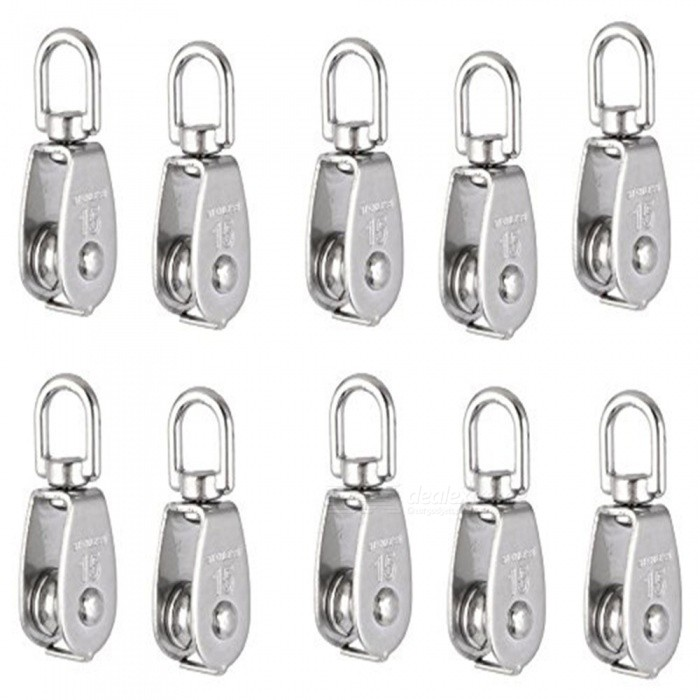 M15 Lifting Crane Swivel Hook Single Pulley Block, Hanging Wire Towing Wheel (5 PCS)DIY Parts &amp; Components<br>ColorSilverModelM15Quantity5 DX.PCM.Model.AttributeModel.UnitMaterial304 stainless steelEnglish Manual / SpecNoCertificationNOPacking List5 x Crane Pulley Blocks<br>