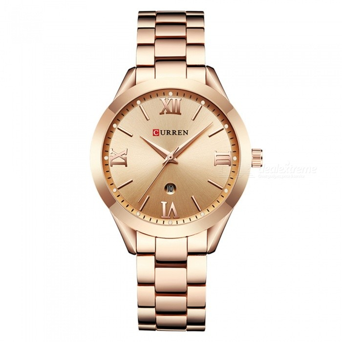 CURREN 9007 Womens Stylish Quartz Watch - Rose GoldQuartz Watches<br>ColorRose GoldModel9007Quantity1 DX.PCM.Model.AttributeModel.UnitShade Of ColorMulti-colorCasing MaterialAlloyWristband Material-Suitable forAdultsGenderWomenStyleWrist WatchTypeFashion watchesDisplayAnalogBacklightnoMovementQuartzDisplay Format12 hour formatWater ResistantFor daily wear. Suitable for everyday use. Wearable while water is being splashed but not under any pressure.Dial Diameter4 DX.PCM.Model.AttributeModel.UnitDial Thickness1 DX.PCM.Model.AttributeModel.UnitWristband Length22 DX.PCM.Model.AttributeModel.UnitBand Width1.5 DX.PCM.Model.AttributeModel.UnitBattery626Packing List1 x Watch<br>