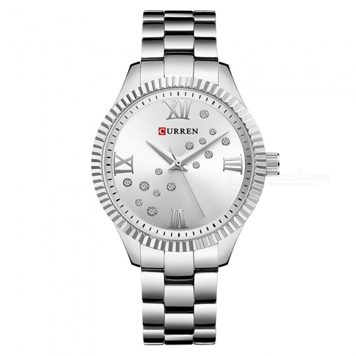 CURREN 9009 Creative Stylish Quartz Watch for Women - SilverQuartz Watches<br>ColorSilverModel9009Quantity1 DX.PCM.Model.AttributeModel.UnitShade Of ColorWhiteCasing MaterialAlloyWristband Material-Suitable forAdultsGenderWomenStyleWrist WatchTypeFashion watchesDisplayAnalogBacklightnoMovementQuartzDisplay Format12 hour formatWater ResistantNODial Diameter4 DX.PCM.Model.AttributeModel.UnitDial Thickness1 DX.PCM.Model.AttributeModel.UnitWristband Length22 DX.PCM.Model.AttributeModel.UnitBand Width1.5 DX.PCM.Model.AttributeModel.UnitBattery626Packing List1 x Watch<br>