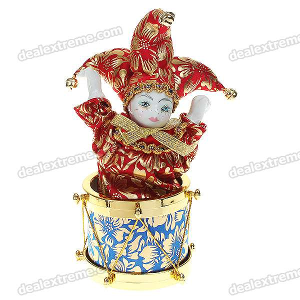 Valentines Gift Guardian Angel of Love Triangel Doll with Crank Music + Sway Effects (M07-31)