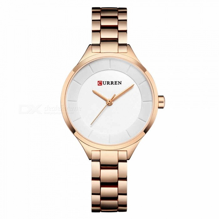 CURREN 9015 Stylish Quartz Watch for Women - Rose Gold + WhiteQuartz Watches<br>ColorRose Gold + WhiteModel9015Quantity1 pieceShade Of ColorMulti-colorCasing MaterialAlloyWristband Material-Suitable forAdultsGenderWomenStyleWrist WatchTypeFashion watchesDisplayAnalogBacklightnoMovementQuartzDisplay Format12 hour formatWater ResistantFor daily wear. Suitable for everyday use. Wearable while water is being splashed but not under any pressure.Dial Diameter3.5 cmDial Thickness1 cmWristband Length22 cmBand Width1.2 cmBattery626Packing List1 x Watch<br>