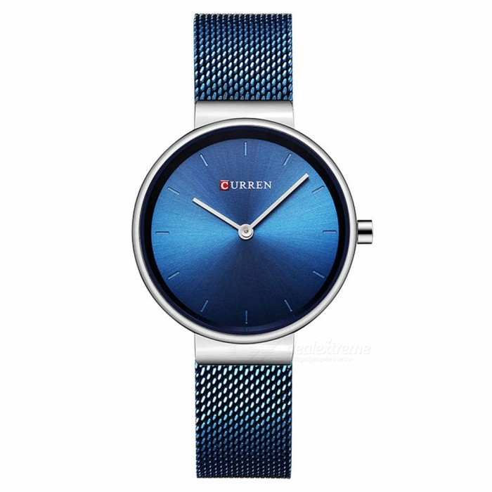 CURREN 9016 Stylish Quartz Watch for Women - BlueQuartz Watches<br>ColorBlueModel9016Quantity1 DX.PCM.Model.AttributeModel.UnitShade Of ColorBlueCasing MaterialAlloyWristband Material-Suitable forAdultsGenderWomenStyleWrist WatchTypeFashion watchesDisplayAnalogBacklightnoMovementQuartzDisplay Format12 hour formatWater ResistantFor daily wear. Suitable for everyday use. Wearable while water is being splashed but not under any pressure.Dial Diameter3 DX.PCM.Model.AttributeModel.UnitDial Thickness1 DX.PCM.Model.AttributeModel.UnitWristband Length23 DX.PCM.Model.AttributeModel.UnitBand Width1.5 DX.PCM.Model.AttributeModel.UnitBattery626Packing List1 x Watch<br>